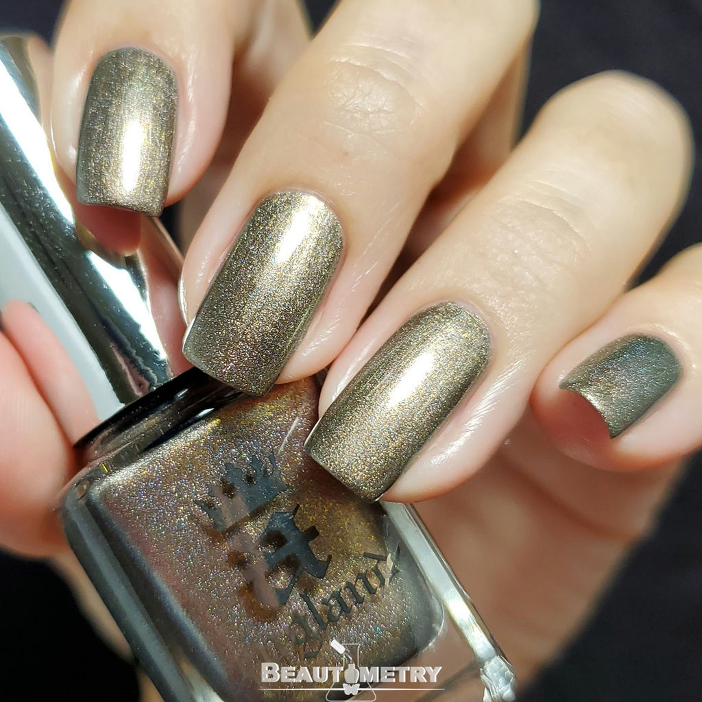 virgin queen pewter holographic nail polish