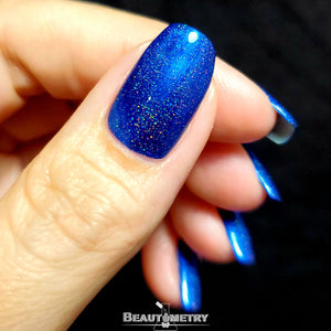 wikkid blue holographic nail polish