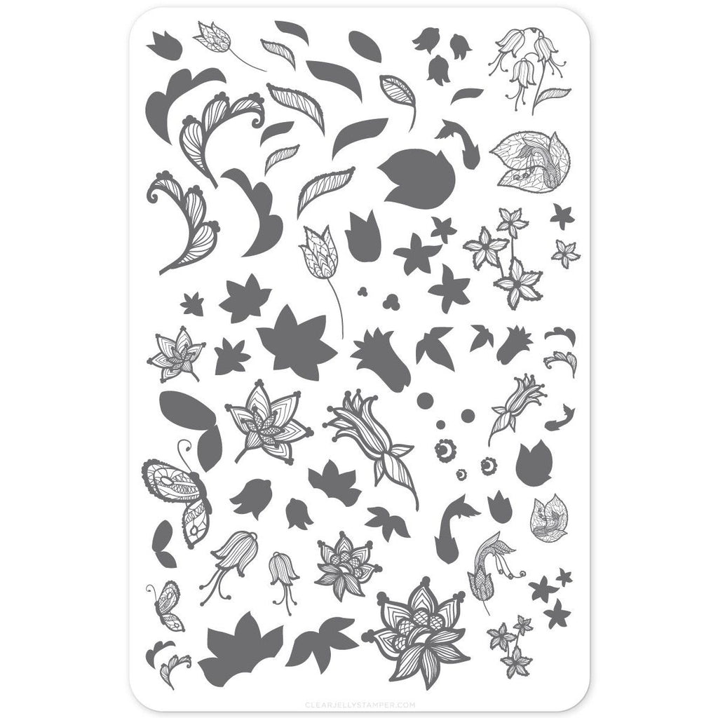 Clear Jelly Stamper- Petals of Lace (CjS-50)