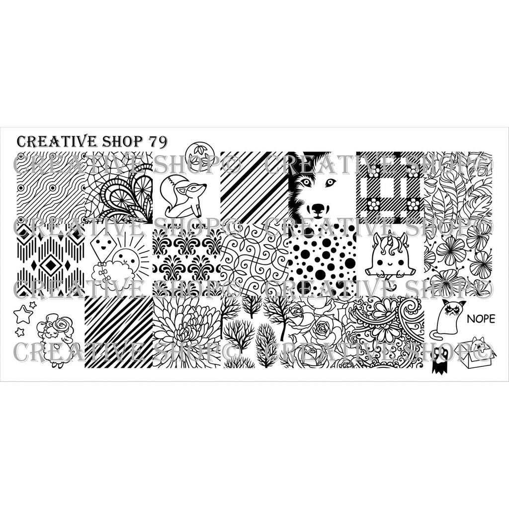 Creative Shop- Stamping Plate- 079