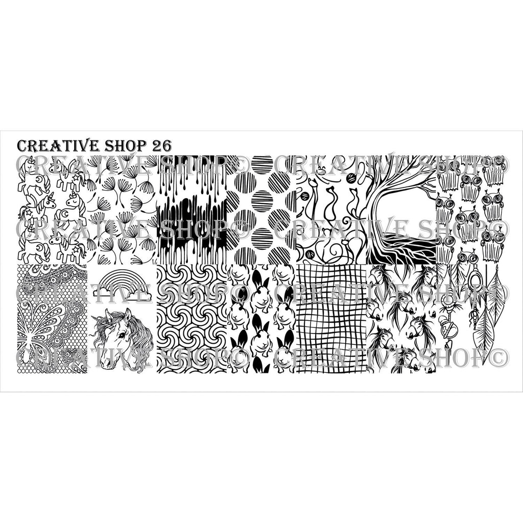 Creative Shop- Stamping Plate- 026