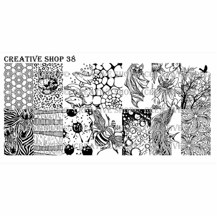 Creative Shop- Stamping Plate- 038