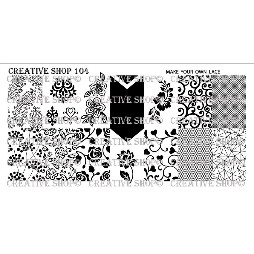 Creative Shop- Stamping Plate- 104