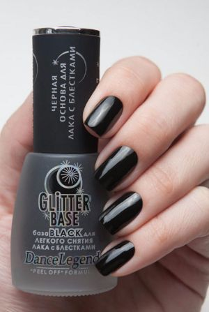 Dance Legend- Base Coats- Glitter Base Black