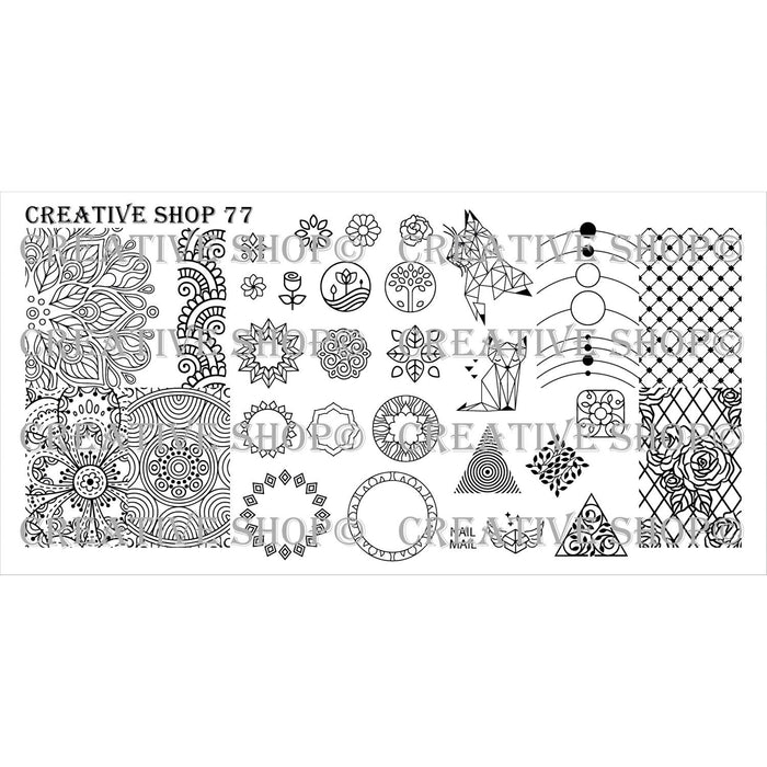 Creative Shop- Stamping Plate- 077