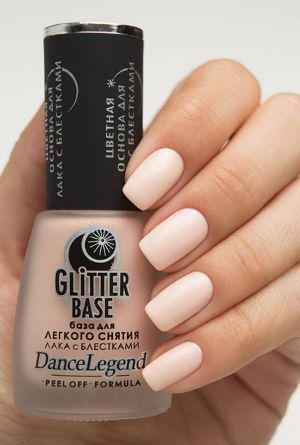 Dance Legend- Base Coats- Glitter Base Nude