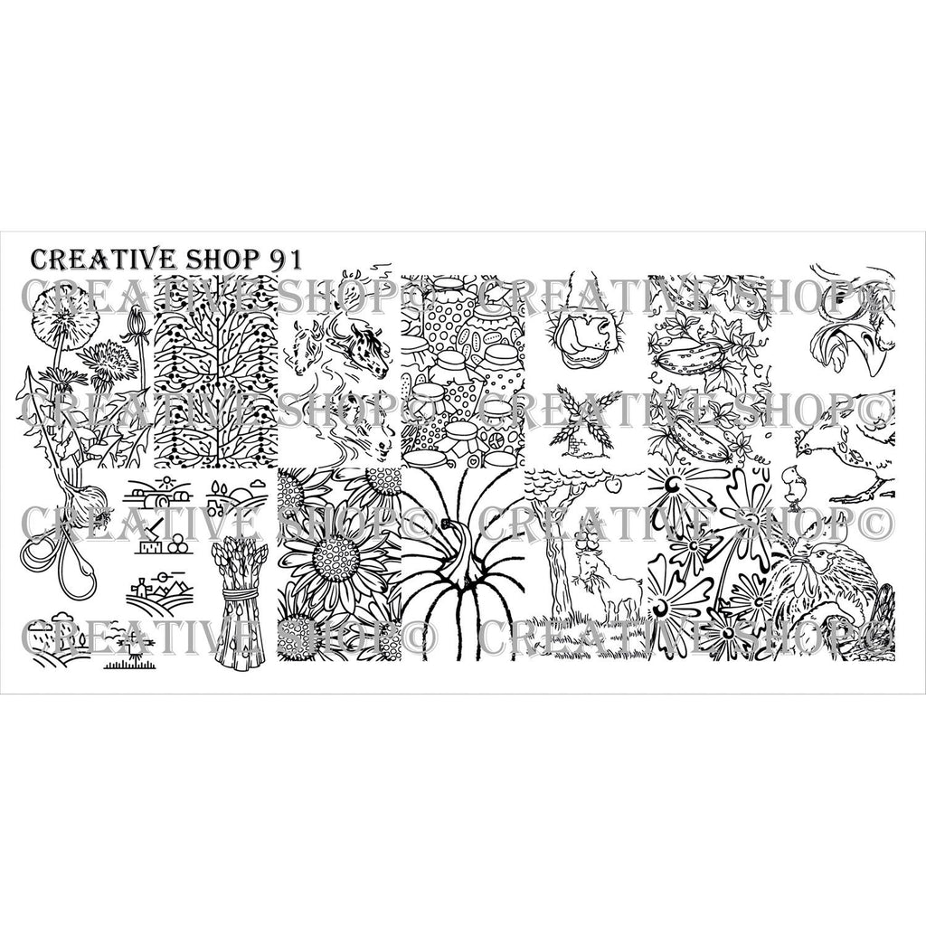Creative Shop- Stamping Plate- 091
