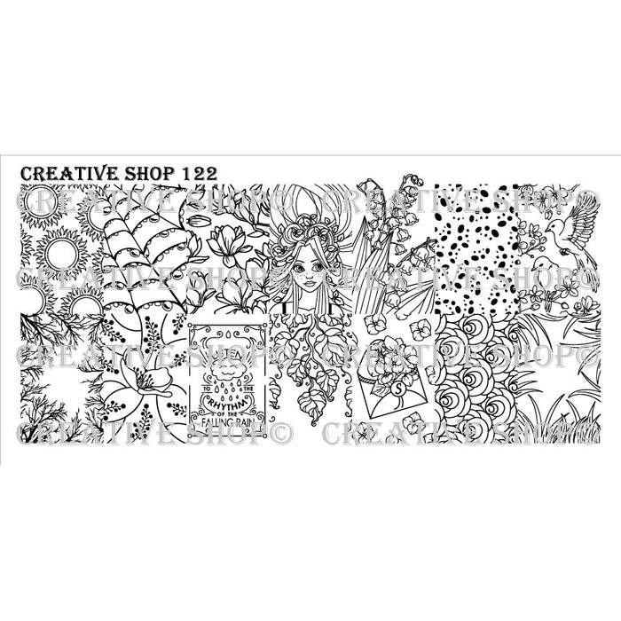 Creative Shop- Stamping Plate- 122