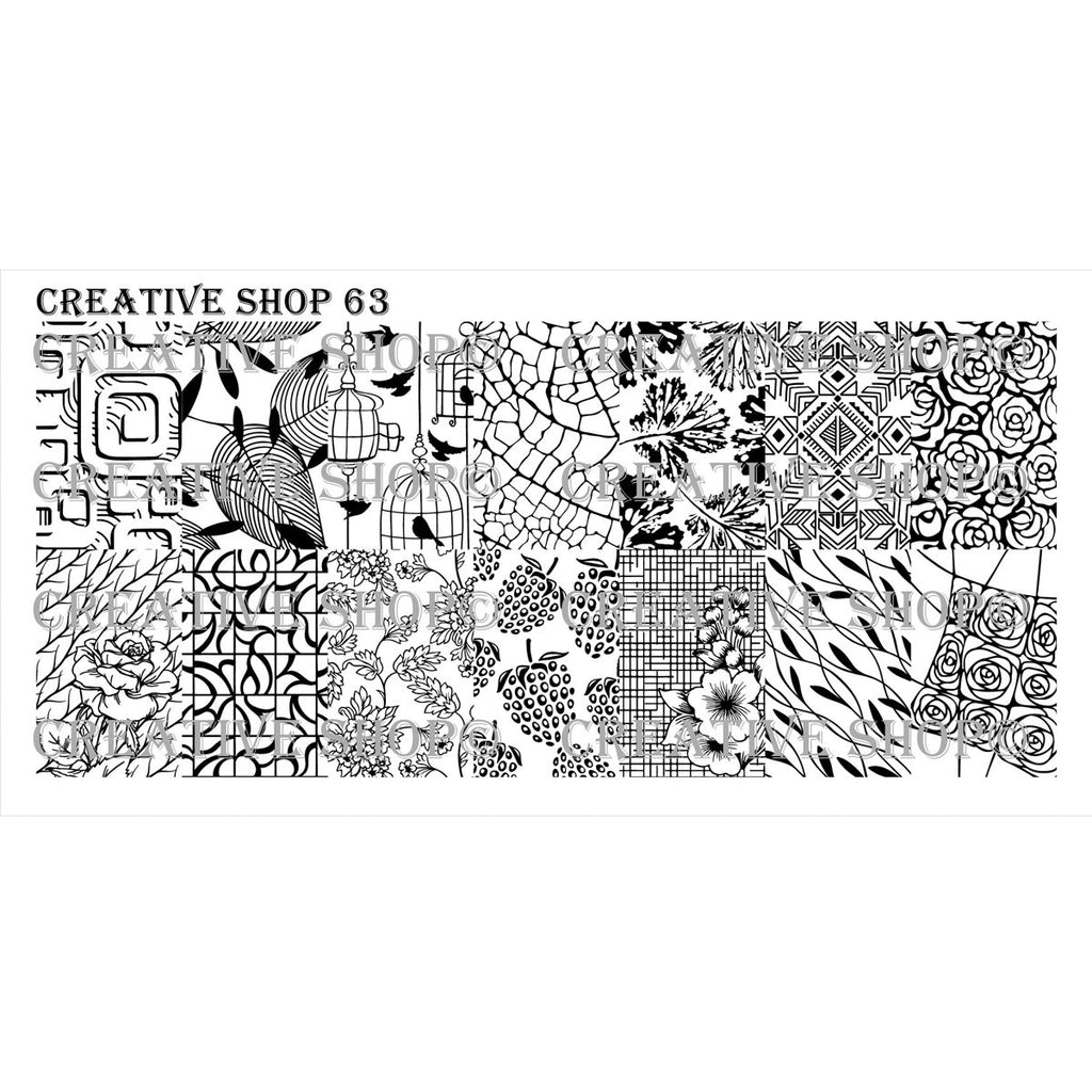Creative Shop- Stamping Plate- 063