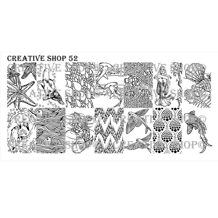 Creative Shop- Stamping Plate- 052