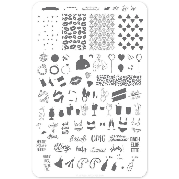 Clear Jelly Stamper- CjS-071- Kiss the Miss Goodbye