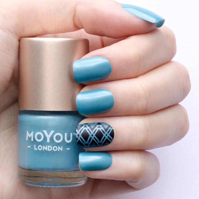 MoYou London- Metallic Stamping Polish- Blue Whale
