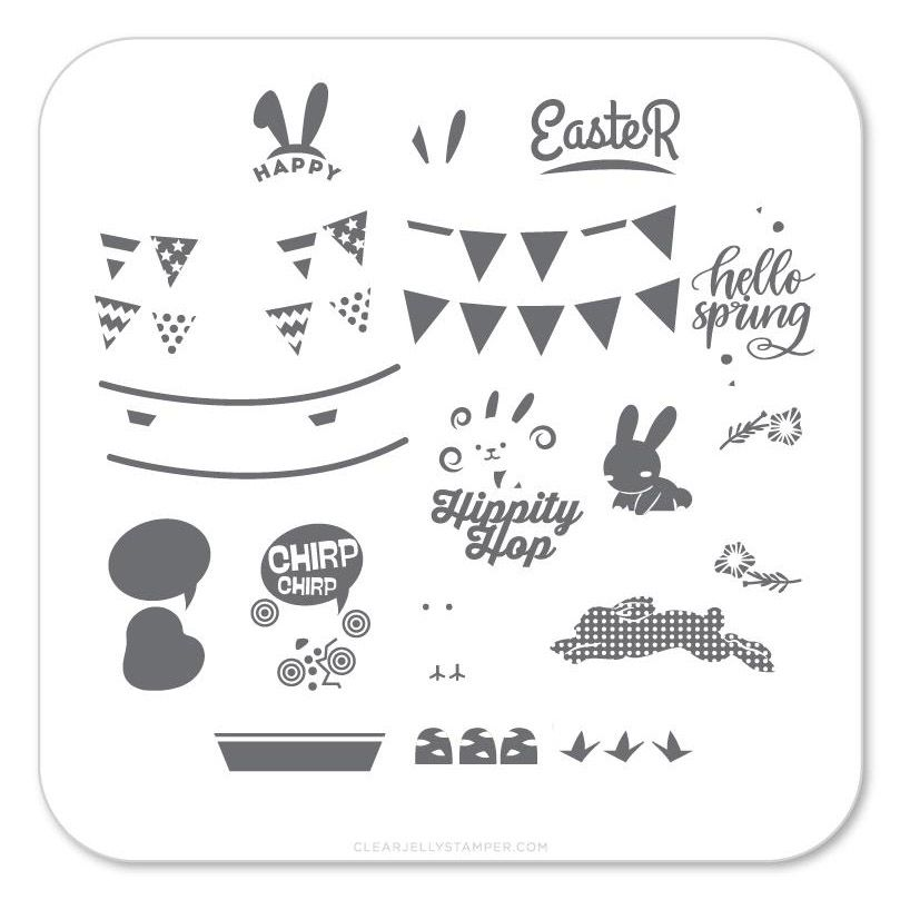 Clear Jelly Stamper- Hippity Easter (CjSH-12)