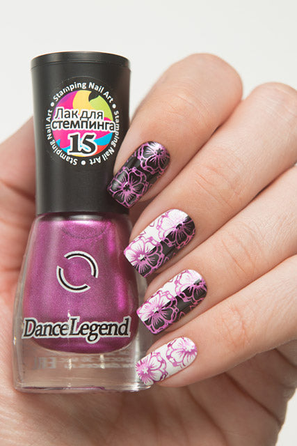Dance Legend- Stamping Polish- Metallic Magenta