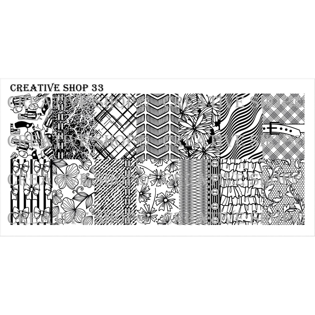 Creative Shop- Stamping Plate- 033