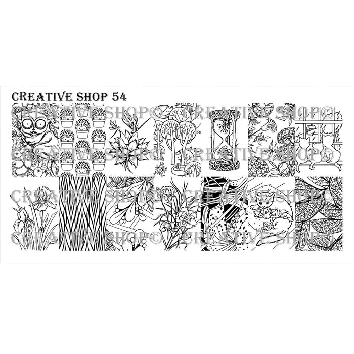 Creative Shop- Stamping Plate- 054