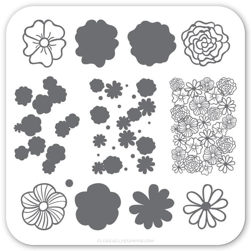 Clear Jelly Stamper- Little Flowers (CjS-66)
