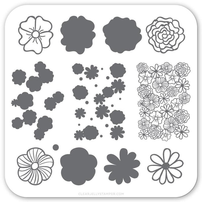 Clear Jelly Stamper- CjS-066- Little Flowers