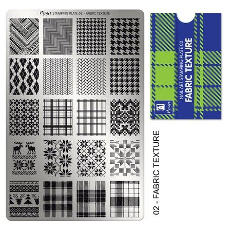 Fabric Moyra Stamping Plate 02. Available in the US at www.beautometry.com.