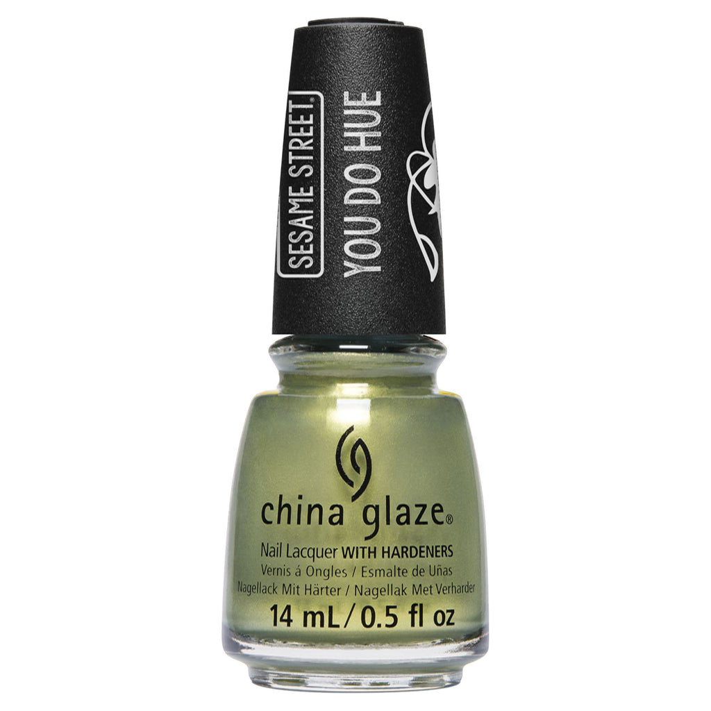 China Glaze- Sesame Street You Do Hue- Trash Can-Do Attitude