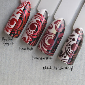 "Hit the Bottle ""Drop Red Gorgeous"" Stamping Polish"