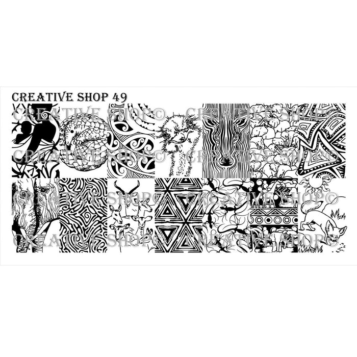 Creative Shop- Stamping Plate- 049