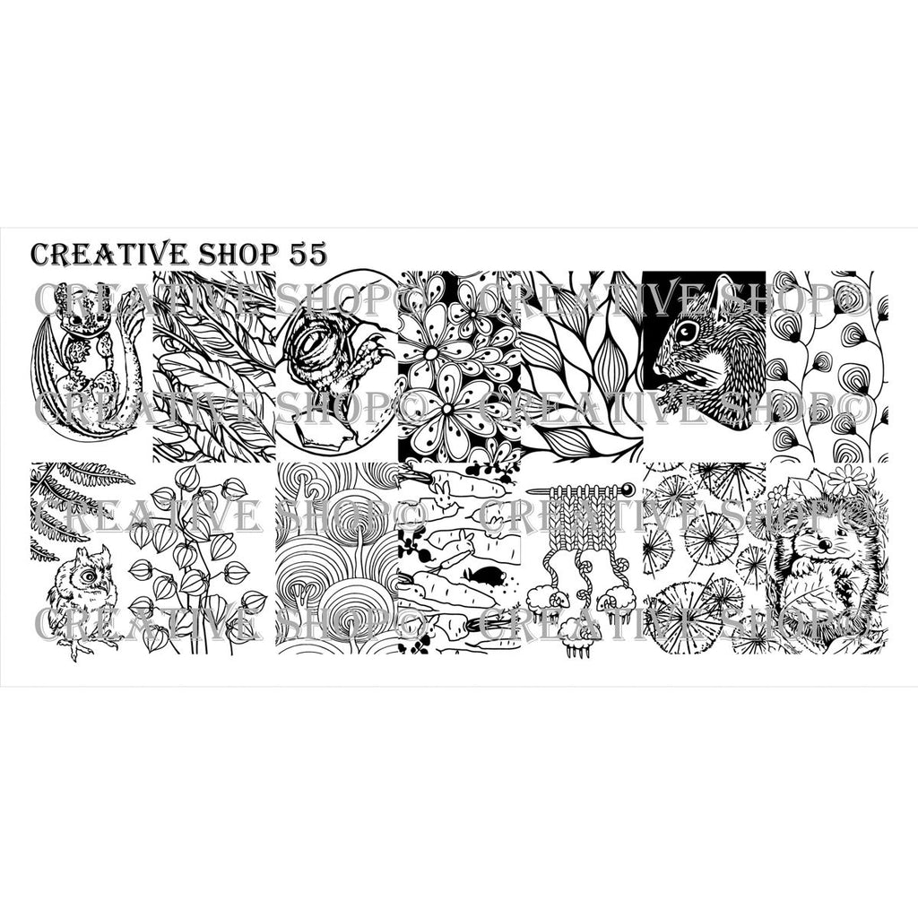 Creative Shop- Stamping Plate- 055