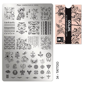 Moyra Stamping Plate 34- Tattoo