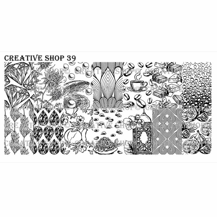 Creative Shop- Stamping Plate- 039