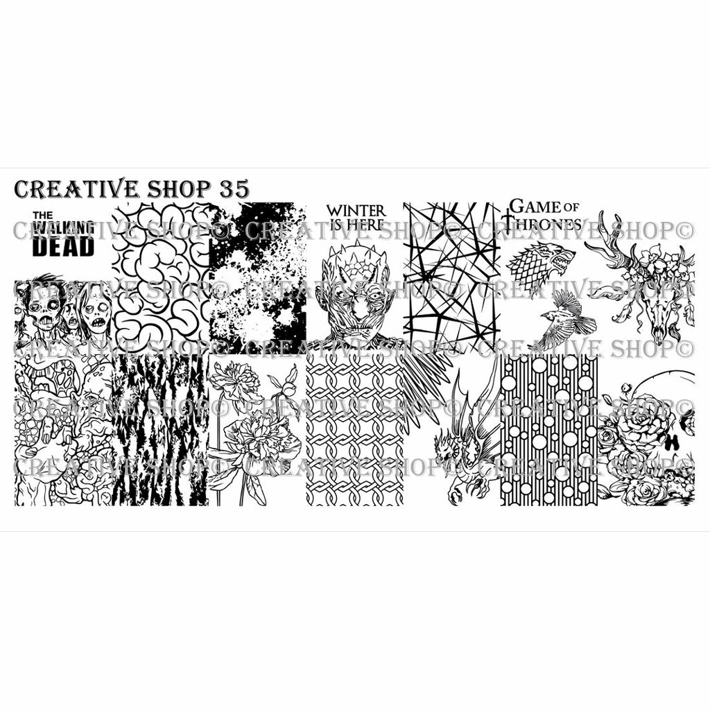 Creative Shop- Stamping Plate- 035