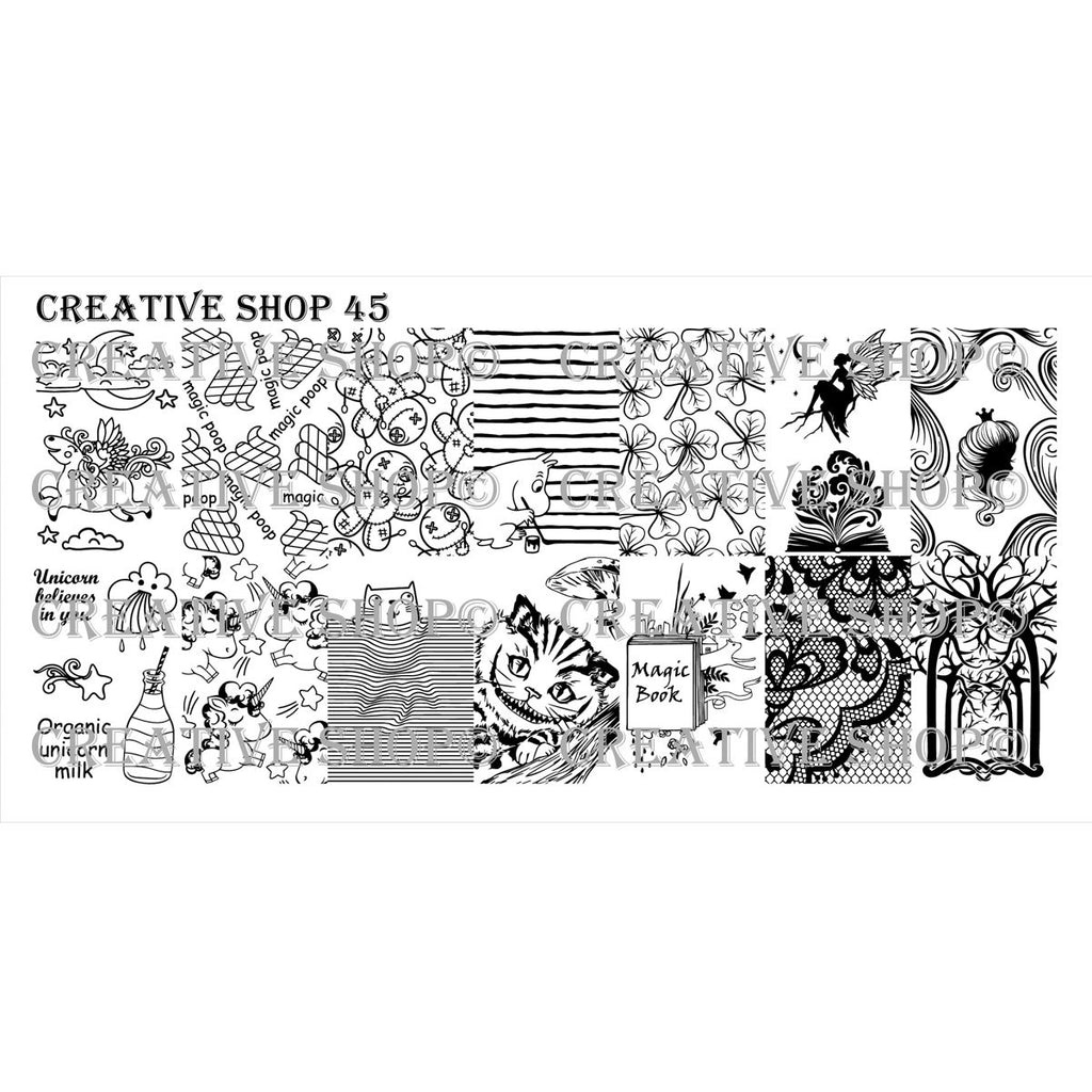 Creative Shop- Stamping Plate- 045