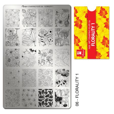 Moyra Stamping Plate 06- Florality