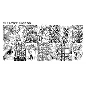 Creative Shop- Stamping Plate- 050