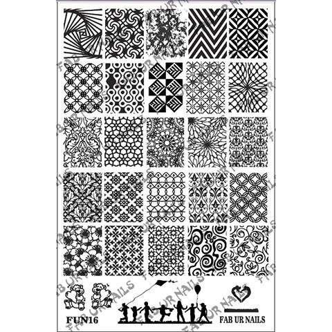 Fab Ur Nails- Stamping Plate- FUN16