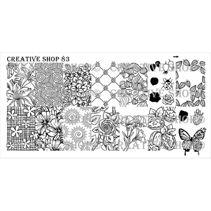 Creative Shop- Stamping Plate- 083