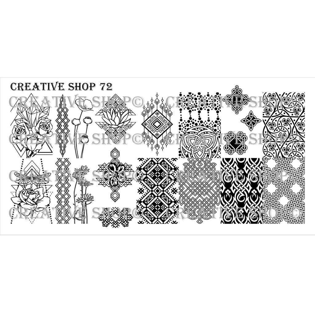 Creative Shop- Stamping Plate- 072