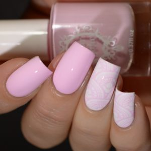 Powder Perfect- Stamping Polish - Pale Pink