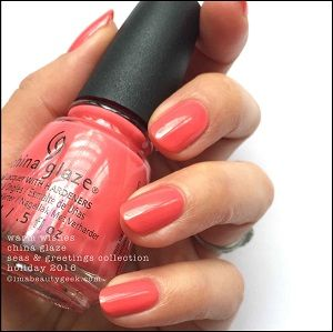China Glaze- Seas and Greetings- Warm Wishes