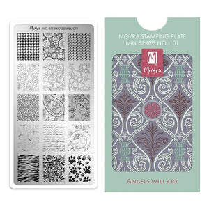 Moyra Mini Stamping Plate 101- Angels Will Cry