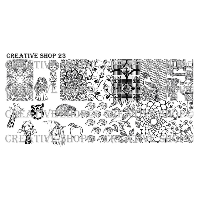 Creative Shop- Stamping Plate- 023