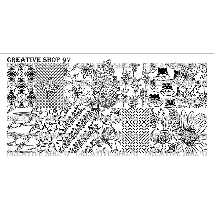 Creative Shop- Stamping Plate- 097