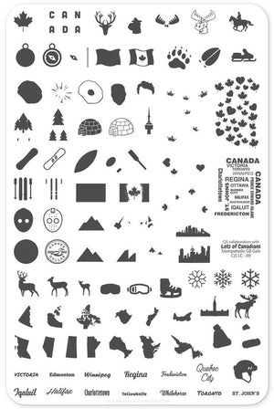 Clear Jelly Stamper- LC-09- Oh Canada!