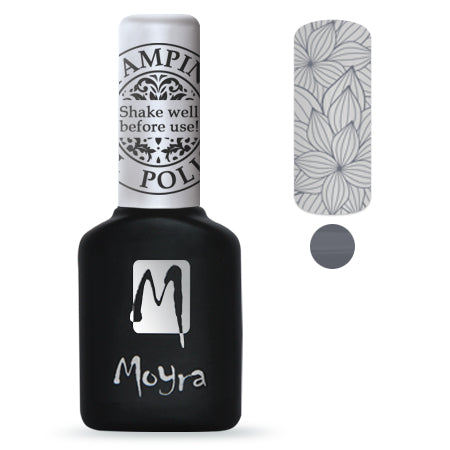 Moyra Stamping Gel Polish- Grey SGP02