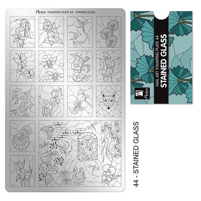 Moyra Stamping Plate 044- Stained Glass