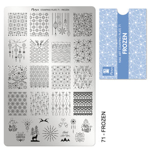 Moyra Stamping Plate 71- Frozen
