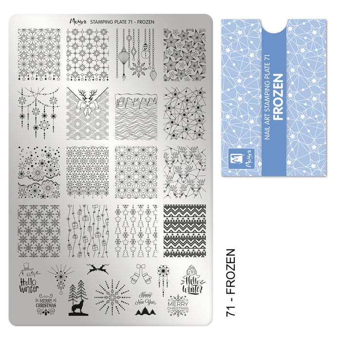 Moyra Stamping Plate 071- Frozen