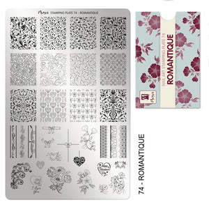 moyra romantique nail stamping plate