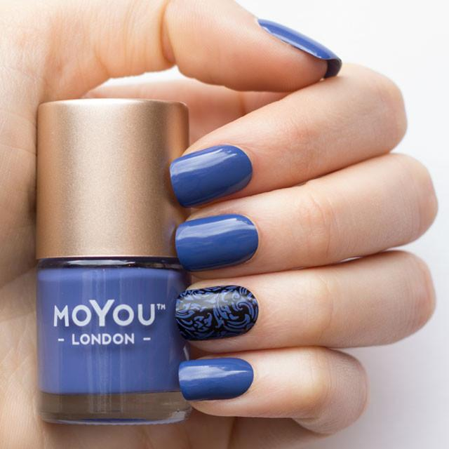 MoYou London- Stamping Polish- Thunderstorm