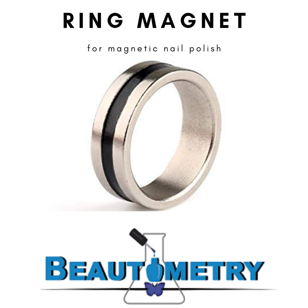 Ring magnet for magnetic nail polish. Available in the US at www.beautometry.com.