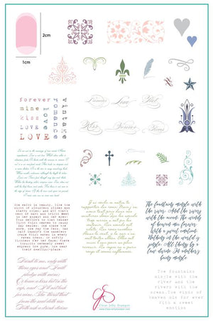 Clear Jelly Stamper- CjS-039- The Poet